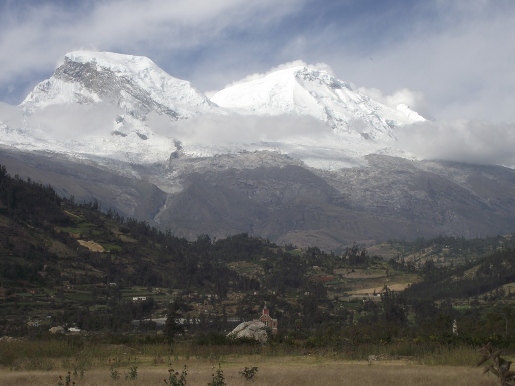 Huascaran, the crowning peak of the Cordilleras Blancas